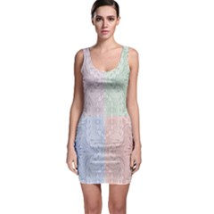 Seamless Kaleidoscope Patterns In Different Colors Based On Real Knitting Pattern Sleeveless Bodycon Dress by Nexatart