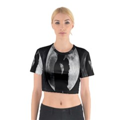 Silhouette Of Lovers Cotton Crop Top