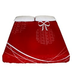 Simple Merry Christmas Fitted Sheet (queen Size)