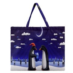 Small Gift For Xmas Christmas Zipper Large Tote Bag by Nexatart