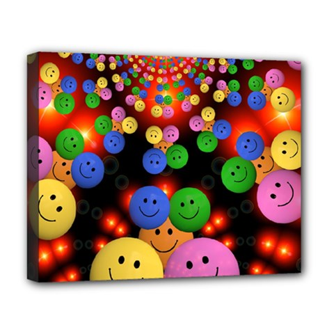 Smiley Laugh Funny Cheerful Deluxe Canvas 20  X 16   by Nexatart