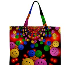 Smiley Laugh Funny Cheerful Medium Zipper Tote Bag by Nexatart