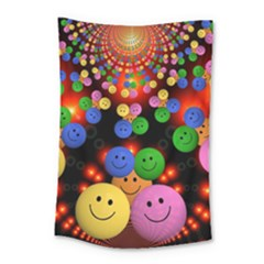 Smiley Laugh Funny Cheerful Small Tapestry