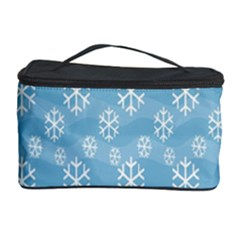 Snowflakes Winter Christmas Cosmetic Storage Case by Nexatart