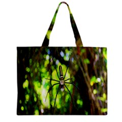 Spider Spiders Web Spider Web Zipper Mini Tote Bag by Nexatart