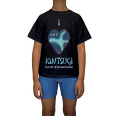 I Love Kintsugi Kids  Short Sleeve Swimwear