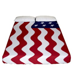 American Flag Fitted Sheet (queen Size) by OneStopGiftShop