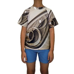Spotlight Light Auto Kids  Short Sleeve Swimwear by Nexatart