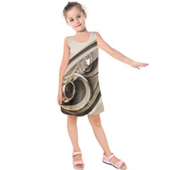 Spotlight Light Auto Kids  Sleeveless Dress by Nexatart