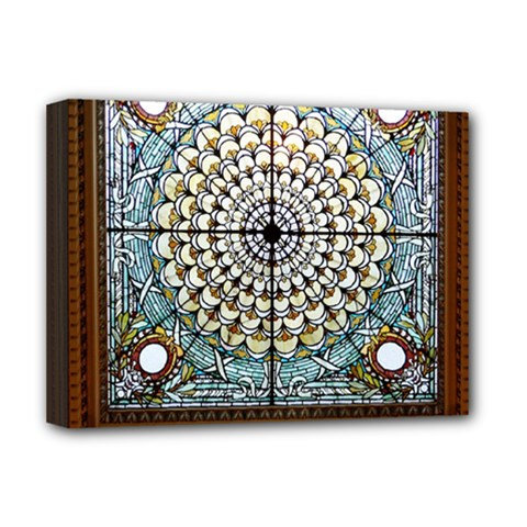 Stained Glass Window Library Of Congress Deluxe Canvas 16  X 12   by Nexatart