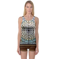 Stained Glass Window Library Of Congress One Piece Boyleg Swimsuit by Nexatart
