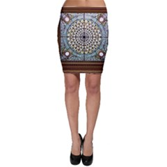 Stained Glass Window Library Of Congress Bodycon Skirt by Nexatart