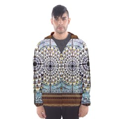 Stained Glass Window Library Of Congress Hooded Wind Breaker (men) by Nexatart