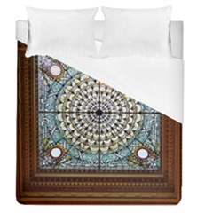 Stained Glass Window Library Of Congress Duvet Cover (queen Size) by Nexatart