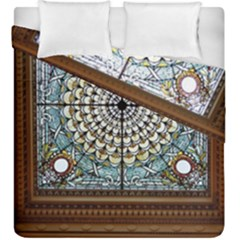 Stained Glass Window Library Of Congress Duvet Cover Double Side (king Size) by Nexatart