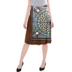 Stained Glass Window Library Of Congress Midi Beach Skirt by Nexatart