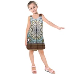 Stained Glass Window Library Of Congress Kids  Sleeveless Dress by Nexatart