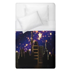 Star Advent Christmas Eve Christmas Duvet Cover (single Size) by Nexatart