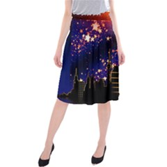 Star Advent Christmas Eve Christmas Midi Beach Skirt
