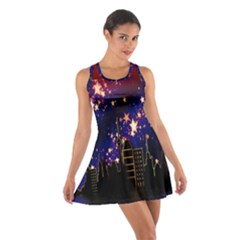 Star Advent Christmas Eve Christmas Cotton Racerback Dress