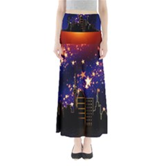 Star Advent Christmas Eve Christmas Maxi Skirts by Nexatart