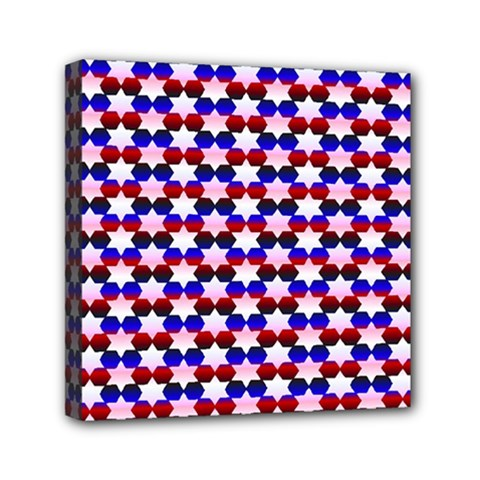 Star Pattern Mini Canvas 6  X 6  by Nexatart