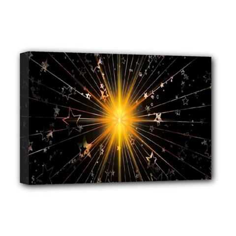 Star Christmas Advent Decoration Deluxe Canvas 18  X 12