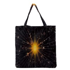Star Christmas Advent Decoration Grocery Tote Bag by Nexatart