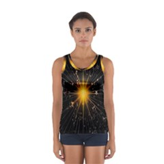 Star Christmas Advent Decoration Women s Sport Tank Top