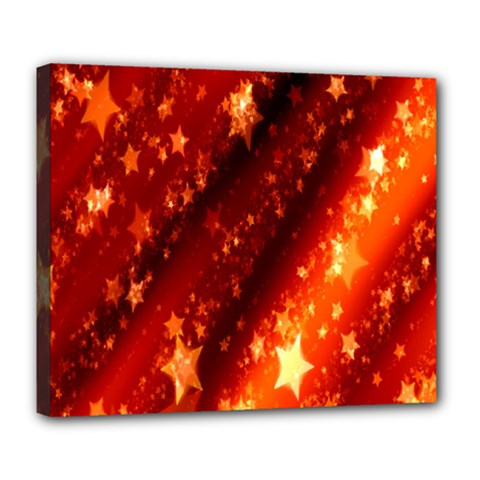 Star Christmas Pattern Texture Deluxe Canvas 24  X 20   by Nexatart