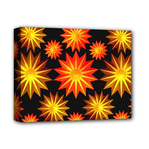 Stars Patterns Christmas Background Seamless Deluxe Canvas 14  X 11