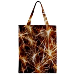 Star Golden Christmas Connection Zipper Classic Tote Bag by Nexatart