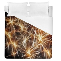 Star Golden Christmas Connection Duvet Cover (queen Size)