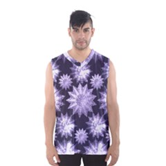 Stars Patterns Christmas Background Seamless Men s Basketball Tank Top
