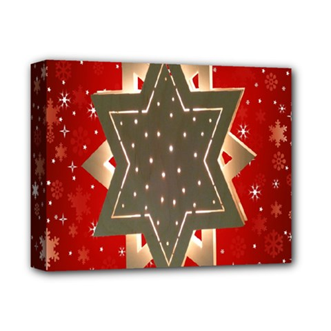 Star Wood Star Illuminated Deluxe Canvas 14  X 11