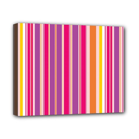 Stripes Colorful Background Pattern Canvas 10  X 8