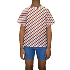 Stripes Striped Design Pattern Kids  Short Sleeve Swimwear