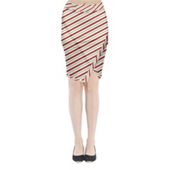 Stripes Striped Design Pattern Midi Wrap Pencil Skirt