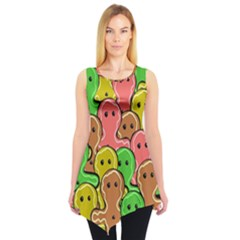 Sweet Dessert Food Gingerbread Men Sleeveless Tunic by Nexatart