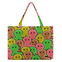 Sweet Dessert Food Gingerbread Men Medium Zipper Tote Bag by Nexatart