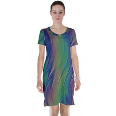 Texture Abstract Background Short Sleeve Nightdress by Nexatart
