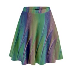 Texture Abstract Background High Waist Skirt by Nexatart