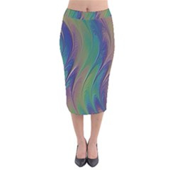 Texture Abstract Background Velvet Midi Pencil Skirt by Nexatart