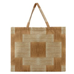 Texture Surface Beige Brown Tan Zipper Large Tote Bag by Nexatart