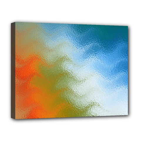 Texture Glass Colors Rainbow Canvas 14  X 11  by Nexatart