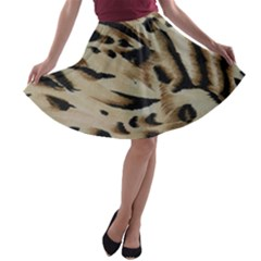 Tiger Animal Fabric Patterns A Line Skater Skirt