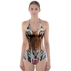 Tiger  Cut-out One Piece Swimsuit by Nexatart