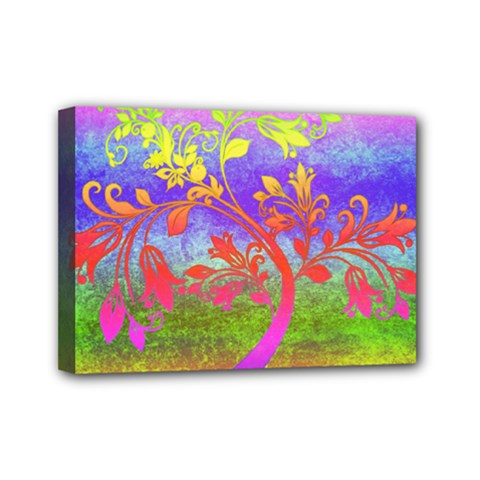 Tree Colorful Mystical Autumn Mini Canvas 7  X 5  by Nexatart