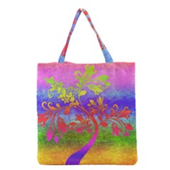 Tree Colorful Mystical Autumn Grocery Tote Bag