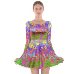 Tree Colorful Mystical Autumn Long Sleeve Skater Dress